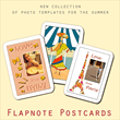 Amusing Photo Templates for Your Summer Photos with Flapnote Postcards