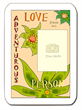 """Love from an adventurous person"" photo template by Flapnote Postcards"
