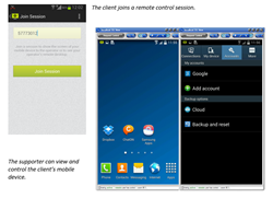 Enhanced remote support for mobile devices