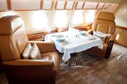 Interior of private plane