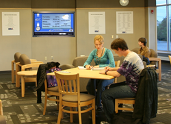 StrandVision Digital Signage can use existing cable TV networks such as this one in a high school study area