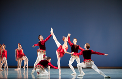 Artists of Pennsylvania Ballet in Rubies from Jewels, choreography by George Balanchine (c) The George Balanchine Trust. Photo: Alexander Iziliaev.