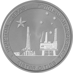 Houston-Perth Sister Cities Coin