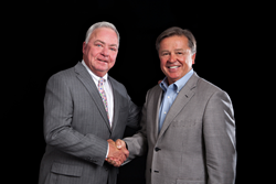 Roland Johnson, founder, CEO and member of the Board of Directors of Piedmont Pharmaceuticals, LLC welcomes Dennis Steadman, chairman and member of the Board of Directors of Piedmont Pharmaceuticals, LLC