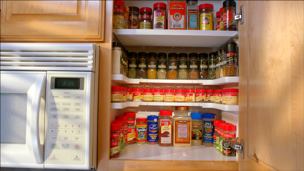 Spicy Shelf™ Nearly Doubles Useable Storage Space While Making Every Spice  Easily Visible ...