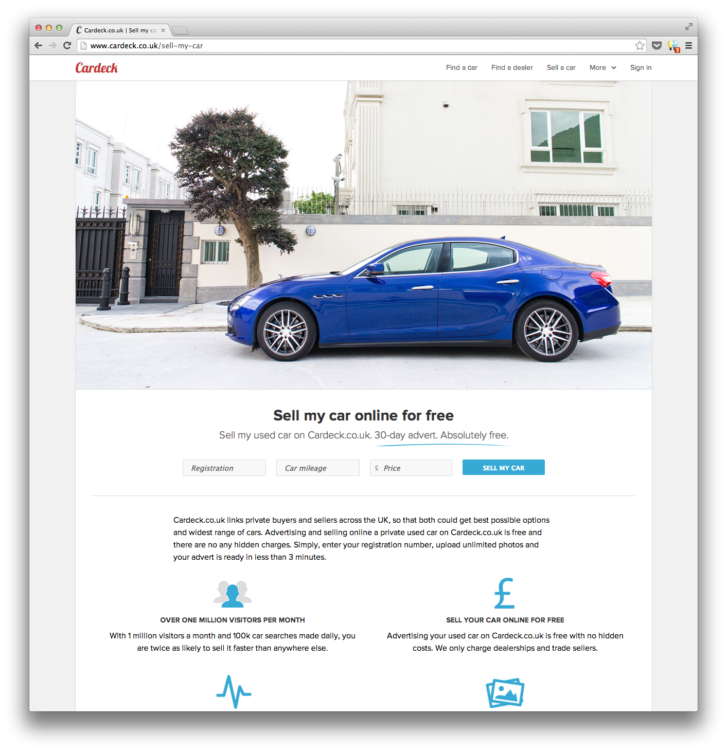 Sell Your Personal Car With Cardeck Co Uk