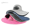 PMF130 2 1/2inch 2 TONE WIDE RIBBON FLOPPY HAT