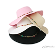 PMF150 4 inch BRIM MULTI COLOR BEADS FLOPPY HAT