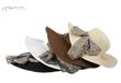 PMF180 4 1/2 inch BRIM LEOPARD SCARF FLOPPY HAT