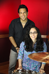Rich Redmond with Marstel-Day President and CEO Rebecca R. Rubin