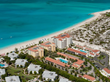 Aerial view of The Tuscany Resort on Grace Bay.