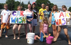 Washdrops offers fundraiser size carwash kits.