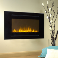Touchstone 40-inch Forte Electric Fireplace is easy to mount to a wall or within a wall.