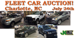 Charlotte, NC, Public Auction, Thursday, July 24th, 2014, Selling...