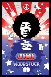 Jimi Hendrix poster to celebrate 45th anniversary of Woodstock