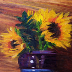 Impression of Sunflowers by Linda Lowery