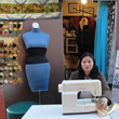 Gloria Ramirez at her tailoring shop.
