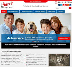 Barr's Insurance Web Site Home Page