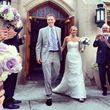 Mr. and Mrs. Brad Lane Leave Mount Carmel Roman Catholic Church in Ridgewood, NJ.