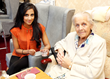 Austerity has made Britons kinder to each other, new report shows. Singer Avina Shah visited a residential home in Leicester as part of Sewa Day 2013