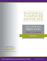 FY 2015 Objectives Report to Congress
