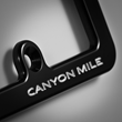 Canyon Mile Introduces Billet Aluminum License Plate Frames