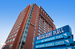 waterfront place hotel exterior