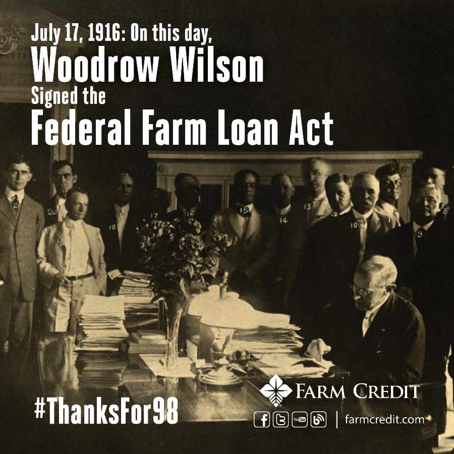 Federal Farm Loan Act Farm Credit Marks 98 Y...