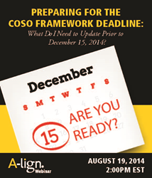 Preparing for the COSO Framework Deadline
