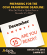"A-lign to Present Webinar Entitled, ""Preparing for the COSO Framework..."