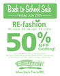 Thrift Town's Back to School Sale July 25th