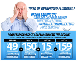 Sicari Plumbing is now offering $150 hot water heater installations in Woodland Hills, Sunland, Tujunga, Reseda, and the entire Los Angeles area.  