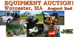 Large Public Auction, Worcester, MA, August 2, 2014: Over 500 Items...