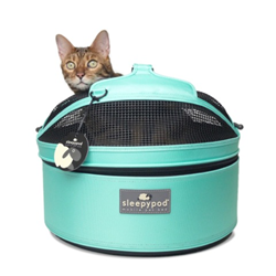 A special edition Sleepypod Air mobile pet bed in Robin Egg blue is available for a limited time.