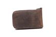 The Cycling Ride Pouch—backside, distressed grizzly leather
