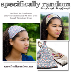 Flower Headband and Wide Headband as gifted by Specifically Random at GBK's Gift Lounge for the 2014 Primetime Emmys