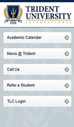 Trident's mobile app welcome screen