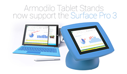 Armodilo Tablet Stands add support for the Microsoft Surface Pro 3