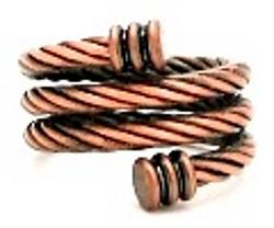 Copper Braided Spiral Magnetic Therapy Ring, copper ring, copper jewelry
