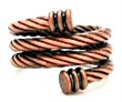 Copper Braided Spiral Magnetic Therapy Ring