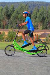 Halie Gebrselassie on ElliptiGO