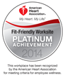 American Heart Association Platinum-Level Fit Friendly Workplace Seal