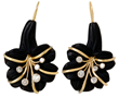 Carved Jet Earrings by Jessica Surloff