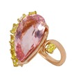Morganite and Yellow Diamond Modern Ballerina Ring by Jessica Surloff