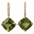 Green Tourmaline and Diamond Earrings by Jessica Surloff