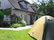 Tent in a backyard