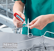 Apply ProCare fluid to washed surgical instruments and leave untouched for 3 minutes