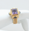 Byzantine Amethyst and Sapphire Ring