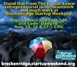 Turn Your Fresh Idea Into Action at Breckenridge Startup Weekend Aug....