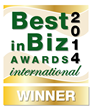 Best in Biz Awards 2014 International gold winner logo